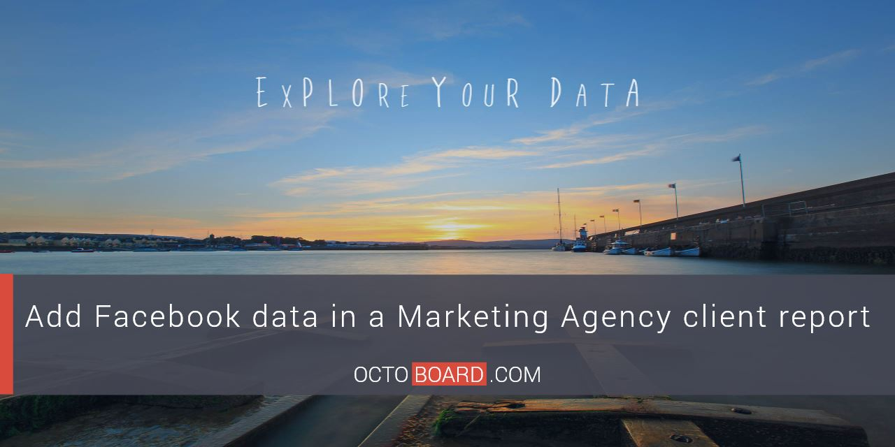Add Facebook data in a Marketing Agency client report