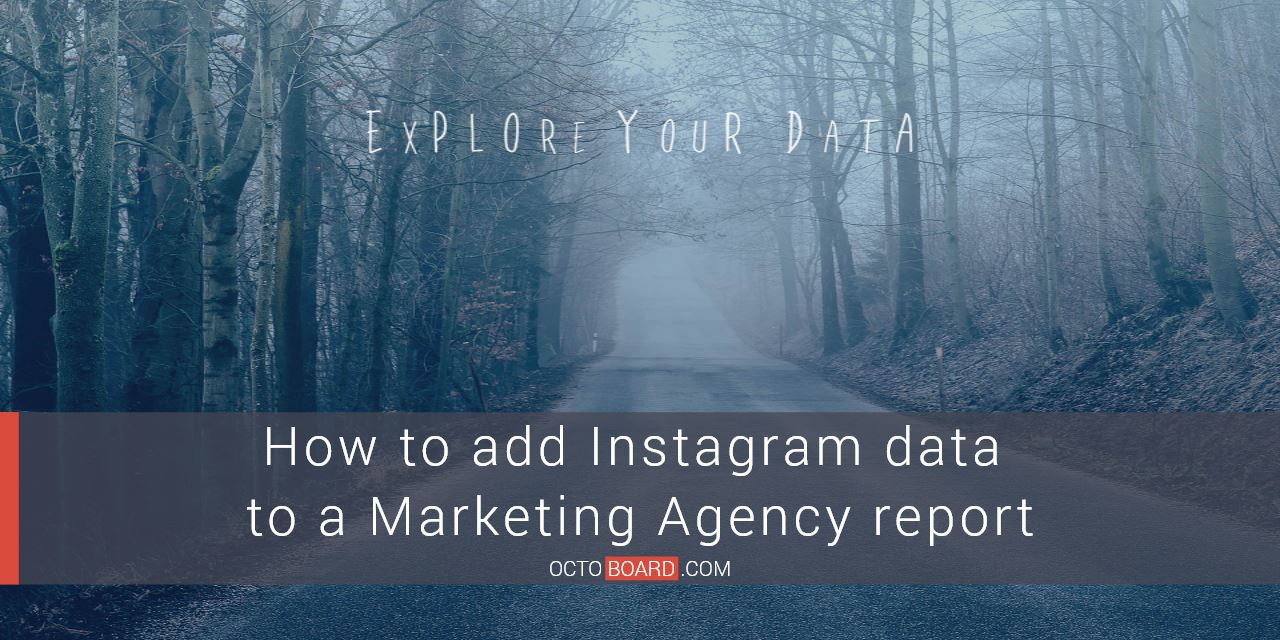 How to add Instagram data to a Marketing Agency report