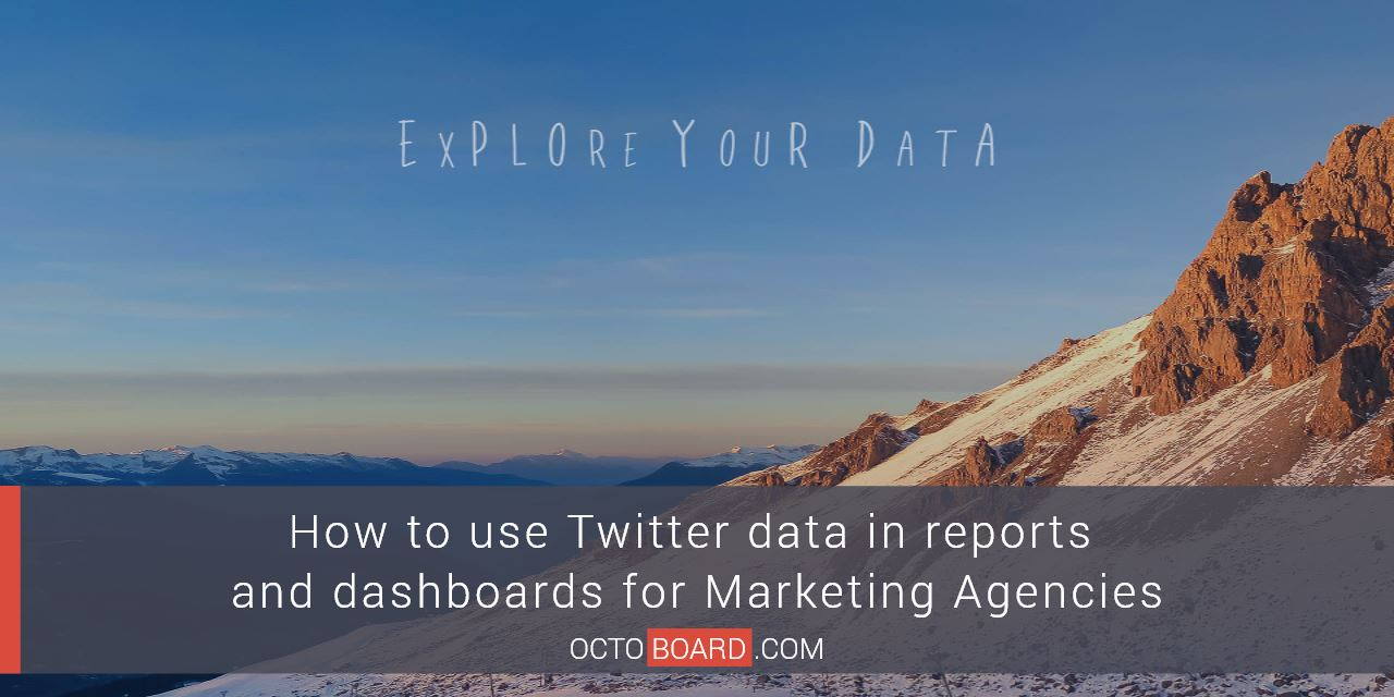 How to use Twitter data in reports and dashboards for Marketing Agencies