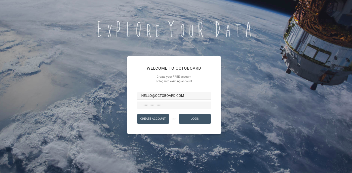 Octoboard - Explore your Data