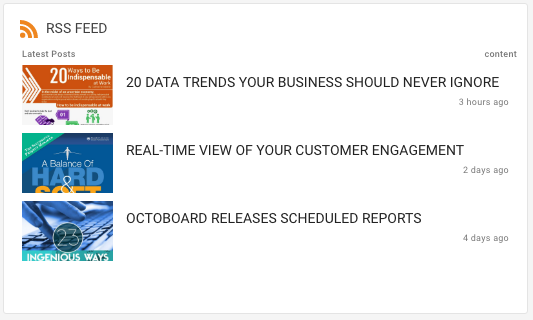 RSS Feed Octoboard